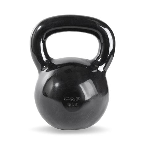 capped kettlebell swings cap enamel coated cast iron kettlebell 45 lb busy body