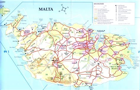 map of malta map of malta destinationmalta