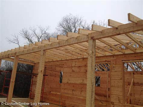 roof system custom timber log homes