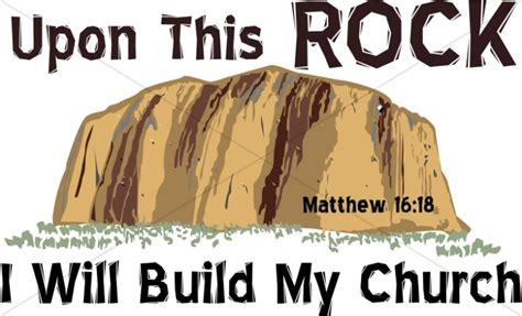 Upon This Rock   Scripture Word Art