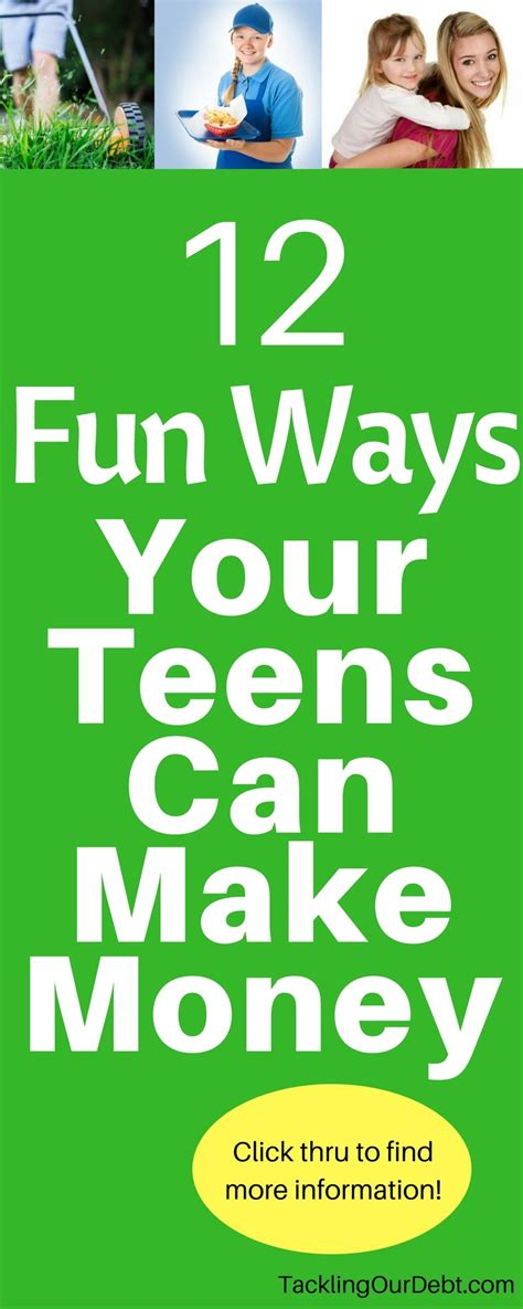 Ways Teens Can Make Money Online - 12 fun ways your teen can make money tackling our debt