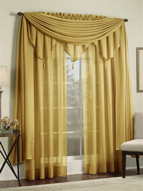 Gold Sheer Curtains Reverie Sheer Panels Scarf Gold Lorraine Casual Curtains