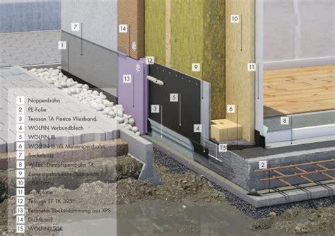 Sockel Spritzwasserschutz by Wolfin Systeme F 252 R Die Bauwerksabdichtung Im Holzbau Wolfin Bautechnik Heinze De