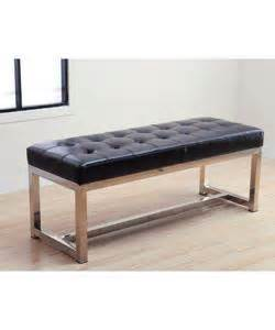overstock leather bench liberty black leather bench overstock com