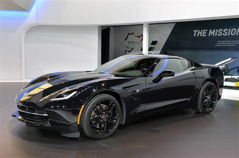 corvette black widow pics black widow s corvette stingray at the chicago auto