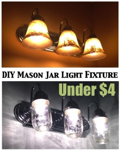 diy bathroom light fixtures diy country chic jar light fixture do it yourself