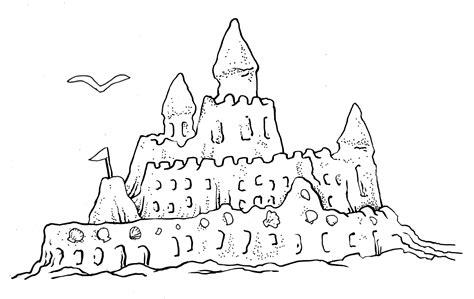 The Gallifrey Crafting Company Page 7 Sand Castle Coloring Pages
