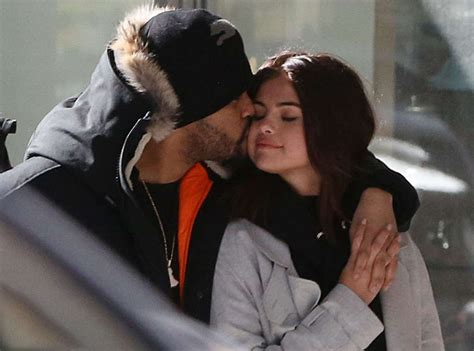 what is up with the weekends hair selena gomez and the weeknd out shopping in toronto 03 16