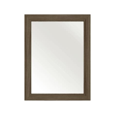 driftwood bathroom mirror cutler kitchen bath 30 in l x 23 in w framed wall