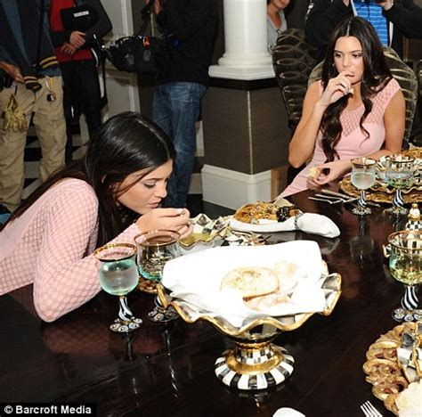 Kendall Dining Room kendall and kylie jenner show their sisterly love by