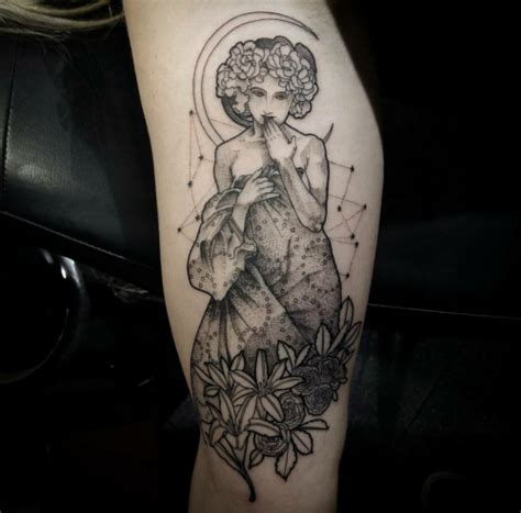 alphonse mucha tattoo on