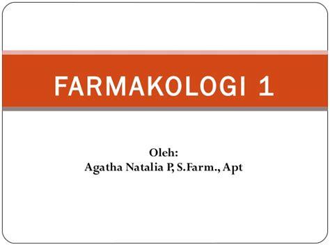 Farmakogi Dasar Dasar Klinik 1 1 Farmakologi