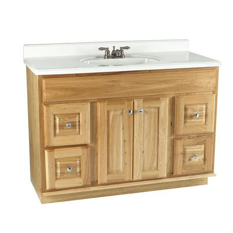 lowes 48 bathroom vanity shop allen roth 48 quot carson hickory bath