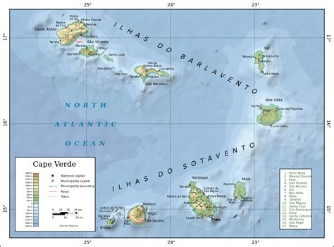 cape verde islands map geography of cape verde