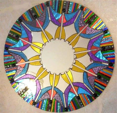 made mosaic mirror colorful stained glass by