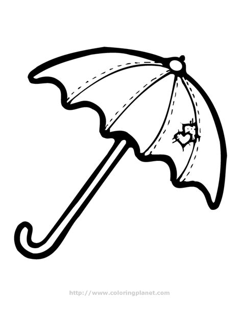 Coloring Page Umbrella by Umbrella Coloring Page Coloring Home