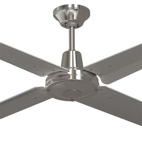 stainless steel ceiling fan silver blades typhoon 52 quot 316 stainless steel ceiling fan