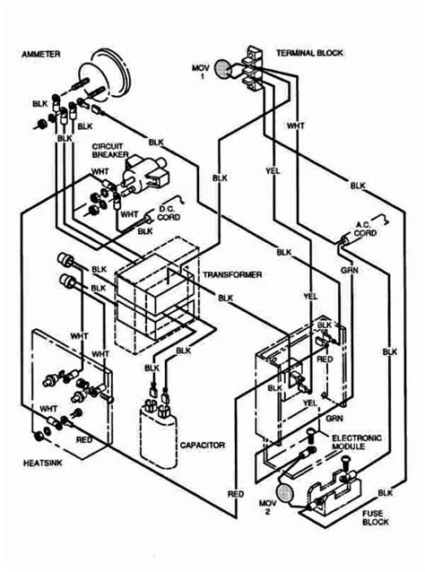 ezgo marathon golf cart wiring diagram ezgo free engine