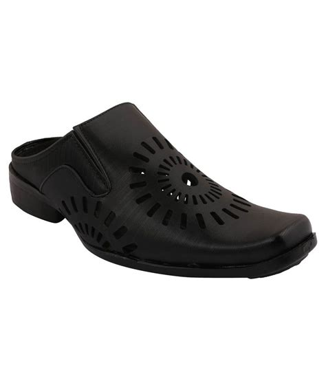 muxyn black formal shoes