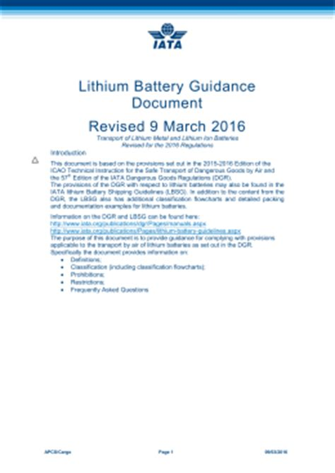lithium metal battery msds air transport of section ii lithium batteries