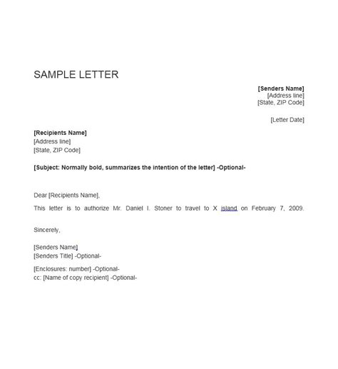 Authorization Letter Granting Permission Permission Letter Template