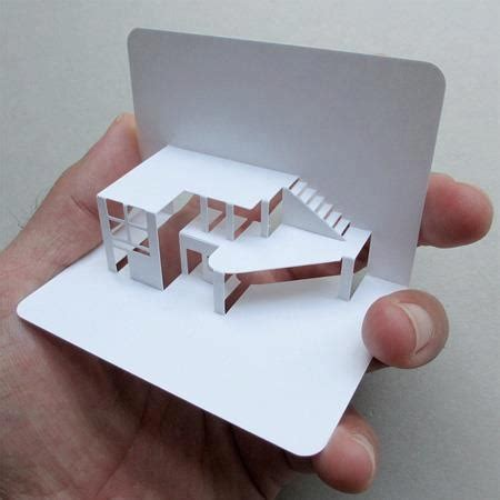 Cool Things To Fold Out Of Paper - cool fold out paper model graphic design