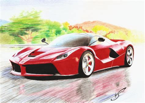 ferrari laferrari sketch ferrari laferrari by vsales on deviantart