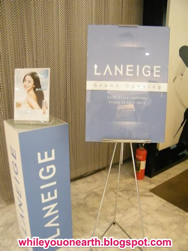 Laneige Di Counter Indonesia welcoming laneige new counter at grand indonesia whileyouonearth