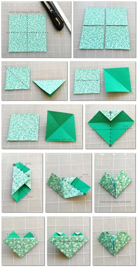 How To Make A Bookmark With Paper - origami s day origami hearts three ways