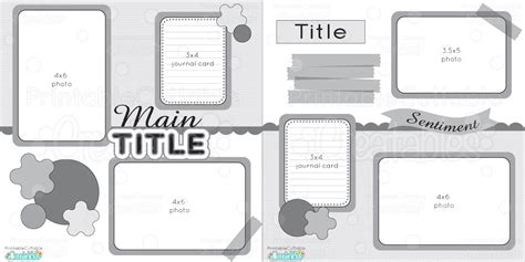 12x12 Two Page Free Printable Scrapbook Layout Scrapbook Layouts Templates