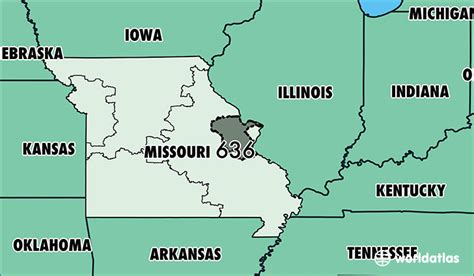 missouri map and surrounding states where is area code 636 map of area code 636