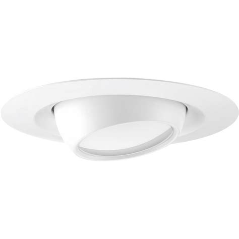 6 recessed lighting eyeball trim shop progress lighting led recessed white eyeball recessed