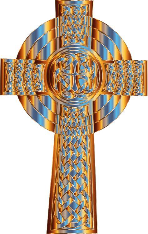 clipart prismatic celtic cross 4
