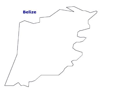 coloring page of map of belize map of belize terrain area and outline maps of belize