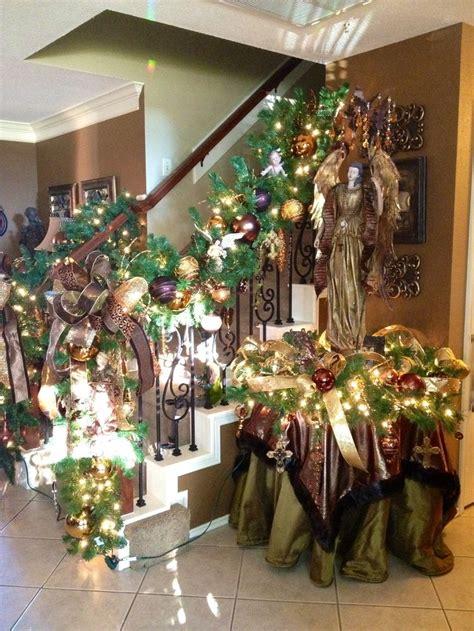 staircase christmas garland christmas pinterest