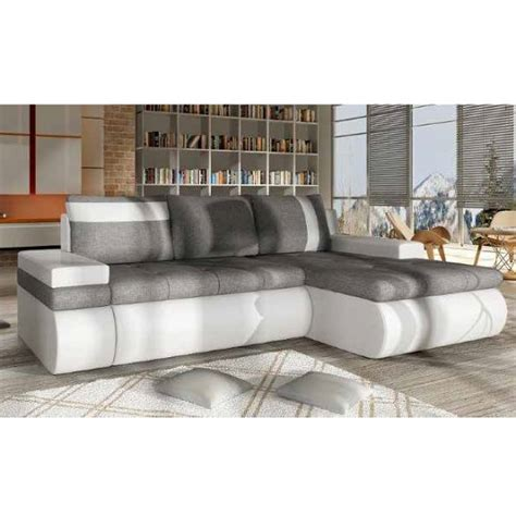 grey and white corner sofa luxemburg modern corner sofa bed in white and grey