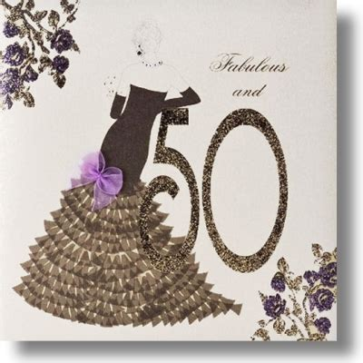 Handmade 50th Birthday Cards - uk greeting cards