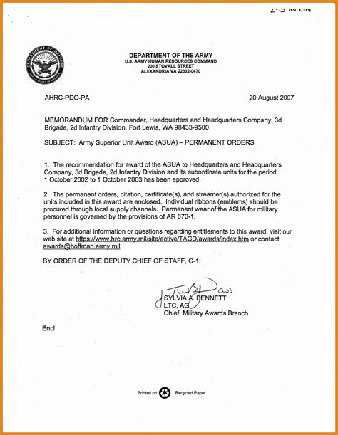 design biography exle army memorandum for record template 28 images 10 best
