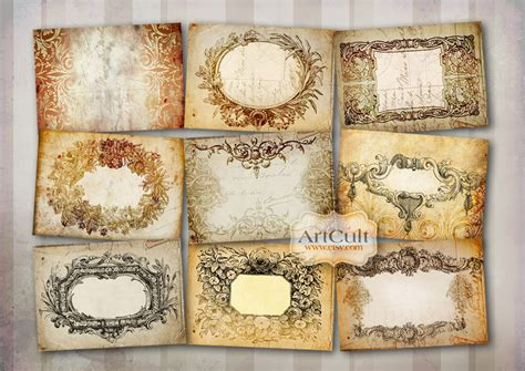 printable jewelry labels printable downloads antique style labels no2 digital