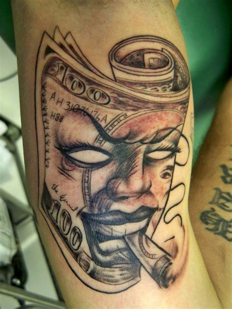 bills tattoo ain t no money like dope money ahh fa thee