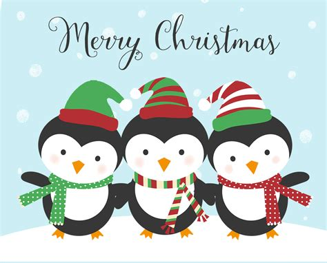 penguin christmas cards whimsical holiday greeting card penguins snow  invite lady