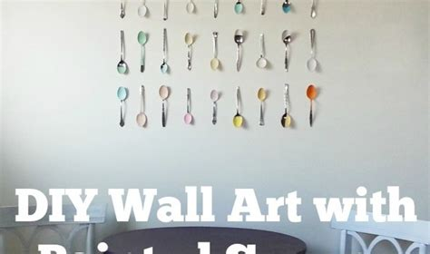 spotted diy wall art with painted spoons crafting a green world spotted diy wall art with painted spoons crafting a