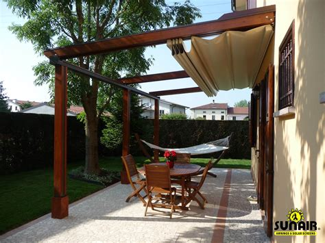 sunair retractable awnings pergola design ideas pergola with retractable awning