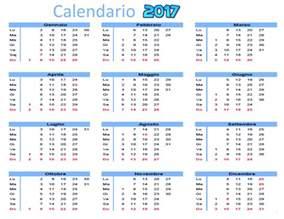 Calendario 2018 Settimane Calendario Annuale 2017 Da Scaricare Gratis E Stare