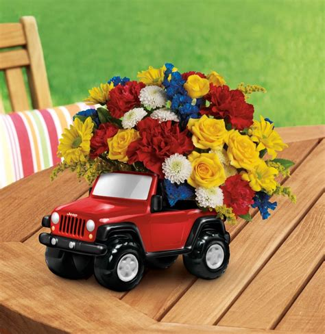 Flower Vase For Car by Jeep 174 Wrangler King Of The Road By Teleflora S