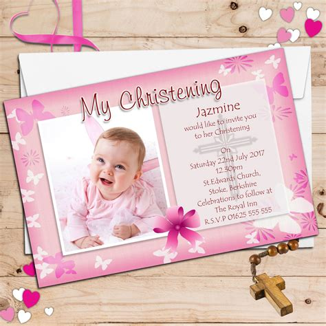 Personalised Invitations by Personalised Christening Invitations Personalised
