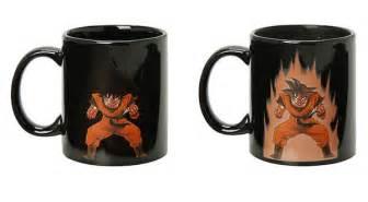 dragon ball z s goku powers up and down on this coffee mug