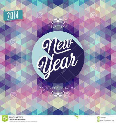 new year illustration new year poster stock photography image 34682002