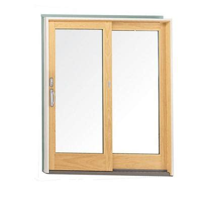 Patio Doors Home Depot Andersen 60 In X 80 In 400 Series Wood Gliding Patio Door 9117172 The Home Depot