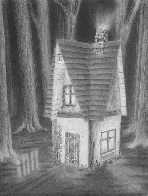 Haus Zeichnen by Haus Im Dunklen Wald Zeichnen Lernen Zeichenkurs